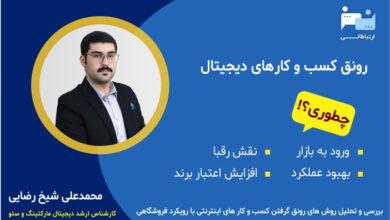 Photo of استراتژی ورود به بازار آنلاین با تخصص دیجیتال مارکتینگ محمدعلی شیخ رضایی